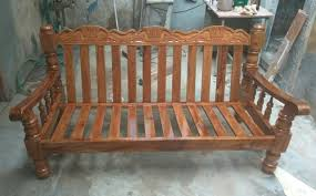 brown teak wood sofa set rs 17500