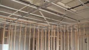 install drywall suspended ceiling grid