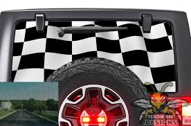 Finishing Flag Rear Window Wrangler Jk Perforated Decals