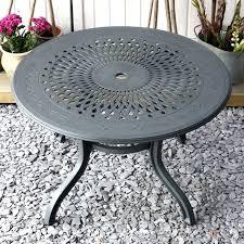 slate amy round 4 seater metal garden