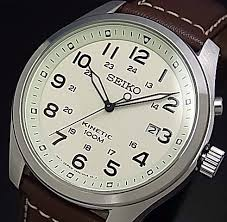 watch brown leather strap ivory dial