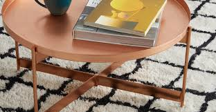 magda coffee table brushed copper