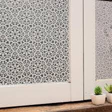 Amazon Com Bloss Privacy Window Film Lace Flower Home Office Window Decal Shower Door Privacy Film 17 7 Window Film Privacy Window Film Plastic Window Covers