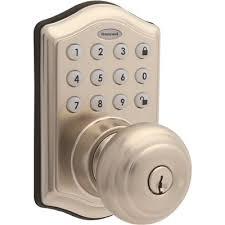 honeywell satin nickel keypad