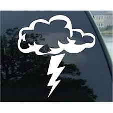 Amazon Com Thunder Storm Sticker Car Vinyl Window Decal Laptop Cloud Rain Lightning Fun Lol Die Cut Vinyl Decal For Windows Cars Trucks Tool Boxes Laptops Macbook Virtually Any Hard Smooth