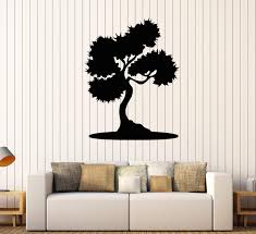 Vinyl Wall Decal Bonsai Tree Asian Style Room Stickers Mural Unique Gi Wallstickers4you