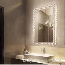 led crystal bathroom mirror wall lamp