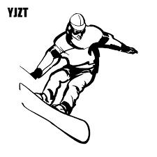 Yjzt 15cm 16 5cm Snowboard Jump Extreme Sport Vinyl Decal Car Sticker Funny Cartoon Black Silver C31 0170 Car Stickers Aliexpress