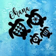 Custom Ohana Sticker Honu Sticker Hawaii By Alohamoanadesigns Family Decals Family Stickers Ohana