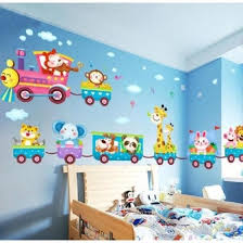 Shop Funny Baby Kids Bedroom Decor Childrens Jungle Animal Train Childrens Printed Wall Art Vinyl Stickers Online From Best Wall Stickers Murals On Jd Com Global Site Joybuy Com
