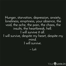hunger starvation depre quotes writings by abhirami