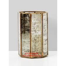 gold octagon mercury glass pillar