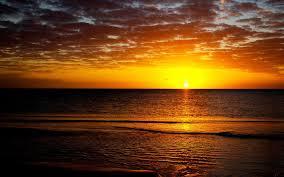 غروب الشمس شمس بحر Hd خلفيات خلفية سطح المكتب
