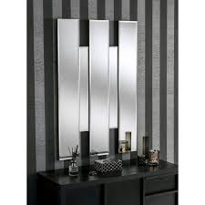 large teague art deco glass wall mirror