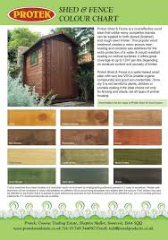 Shed And Fence Colour Chart Protek Wood Stain Fence Paint Colours Fence Paint Shed