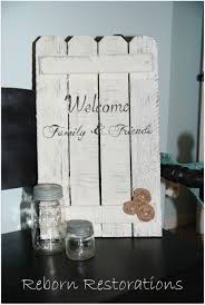 Diy Rustic Picket Fence Sign Picket Fence Welcome Sign With Burlap Flowers Fence Signs Picket Fence Decor Picket Fence Crafts