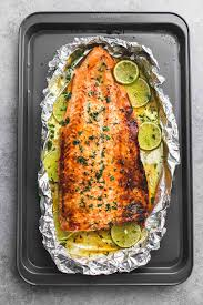 Baked Honey Cilantro Lime Salmon in ...