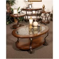 nestor medium brown oval cocktail table