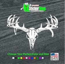 Deer Skull Rear Window Hunting Vinyl Decal Stickers Sticker Flare Llc