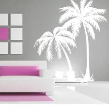 Live Life With Palm Trees Vinyl Decal Home Wall Decor