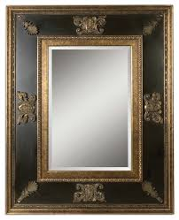 ornate black gold wall mirror