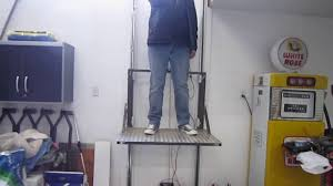 home made garage elevator you