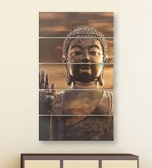 blue wood multiple frames buddha