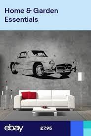 Mercedes 300sl Gullwing Coupe Vinyl Sticker Wall Art Boys Bedroom Garage Sticker Wall Art Wall Stickers Wall Stickers Kids
