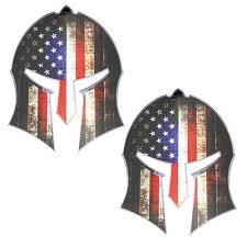 2 5 Inch Us Flag Spartan Gladiator Helmet Shape Reflective Decal Stickers Set Ijdmtoy Com
