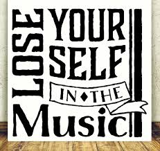 Lose Yourself In The Music Vinyl Wall Decal Stickers Quote 23x22