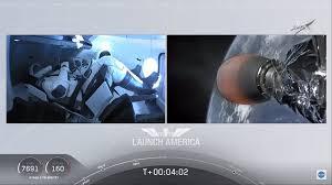 Space X, lancio riuscito, segui in diretta l'arrivo della Crew ...
