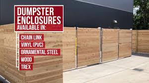 Dumpster Enclosures Commercial Fence Installation Rio Grande Fence Co Of Nashville Youtube