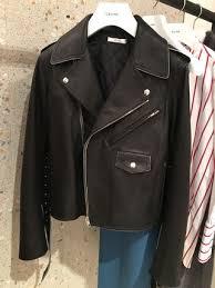 short casual style plain leather biker