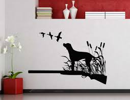 Little Dog Silhouette Art Wall Stickers Standing On Grass With Birds Patterns Special Designed Wall Decal Home Room Decor Wm 482 Art Wall Sticker Designer Wall Stickerswall Sticker Aliexpress