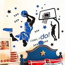 Amazon Com Kelay Fs 3d Basketball Wall Decals Slam Dunk Basketball Wall Decor Sports Decals Basketball Player Wall Stickers For Boys Room Bedroom Decor Baby
