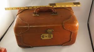 vine tan leather vanity travel train