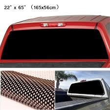 Black Rear Window Perforated Decal Tint Graphic Sticker For Truck Van Waterproof Sunscreen High Environmental Protection Car Stickers Aliexpress
