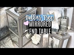 dollar tree diy mirrored end table