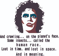 Removable Home Art Rocky Horror Frank N Furter Vinyl Wall Decal Quotes And Crawling On The Planet S Face Some Insects Called The Human Race Lost In Time And Lost In Space
