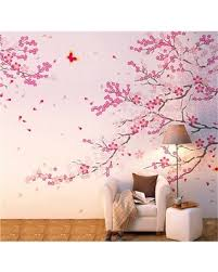 2020 Sales On Popeven Large Pink Sakura Flower Cherry Blossom Tree Wall Sticker Decals Pvc Removable Wall Decal For Nursery Girls And Boys Children S Bedroom