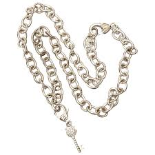 judith ripka heavy sterling necklace 20