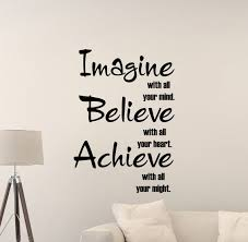 Imagine Believe Achieve Wall Decal Sign Gym Quote Classroom Etsy