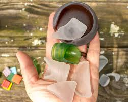 make sea glass in a rock tumbler it