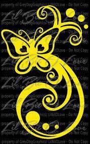 Butterfly Swirls Vinyl Decal Auto Tattoo Sticker For Vehicle Auto Car Lilbitolove On Artfire