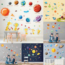 Solar System Moon Sun Star Astronaut Outer Space Animal Giraffe Vinyl Wall Decal Living Room Child Bedroom Art Decor Diy Sticker Buy At The Price Of 7 02 In Aliexpress Com Imall Com