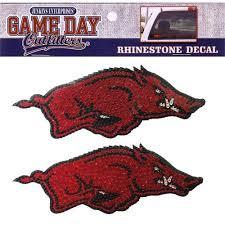 Arkansas Razorbacks Sticker Window Decal Running Hog Rhinestone Hogman S Gameday Superstore
