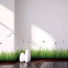 Grass Ladybugs Border Decal Home D Cor Line Wall Decals