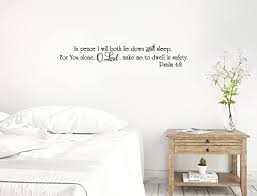 Amazon Com 48 X8 In Peace I Will Both Lie Down And Sleep For You Alone O Lord Make Me To Dwell In Safety Psalm 4 8 Christian Scripture Bible Verse Wall Decal Sticker Art