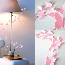 3d Butterfly Wall Stickers Art Design Decal Room Decor Pink Pvc Wall Decals Kids Rooms Decoration Christmas Gift Wall Stickers Aliexpress