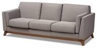 mid century modern gray fabric